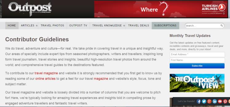 Earn Money Writing Travel Blogs